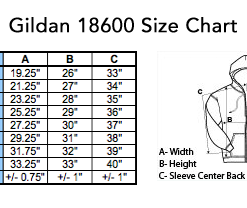 gildan18600sizechart 247x208 - Cheap Graphic Moon Five Pullover Hoodie