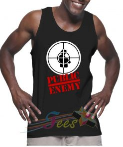 Cheap Graphic Tank Top Public Enemy Logo