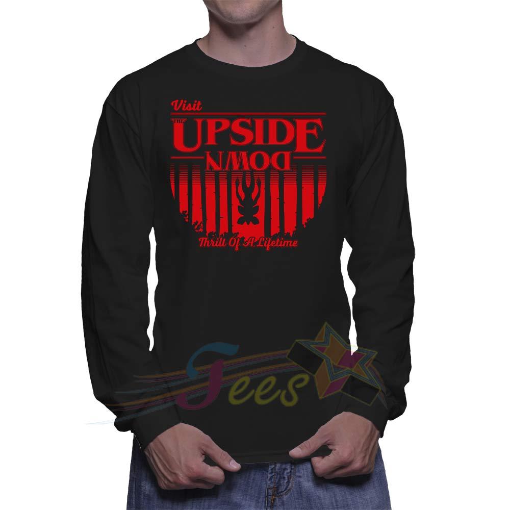 22cade15ffb2 Cheap Upside Down Stranger Things Sweatshirt – Custom Graphic Tee ...