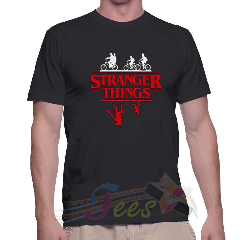 3fde73818d19 Cheap Stranger Things Bike Rides Black Graphic Tees On Sale. Best T Shirt  Santa Sleigher Unisex ...