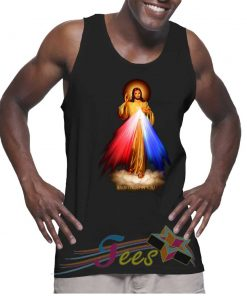 Cheap Graphic Tank Top Jesus Trust In You