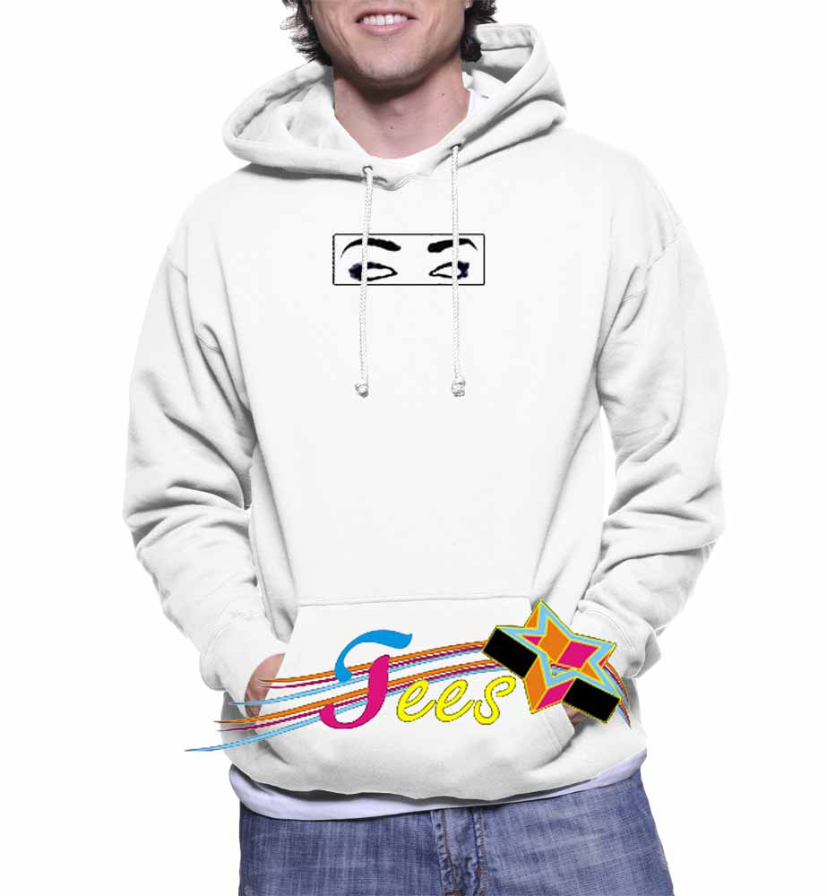 Cheap Graphic Eyes Box Pullover Hoodie
