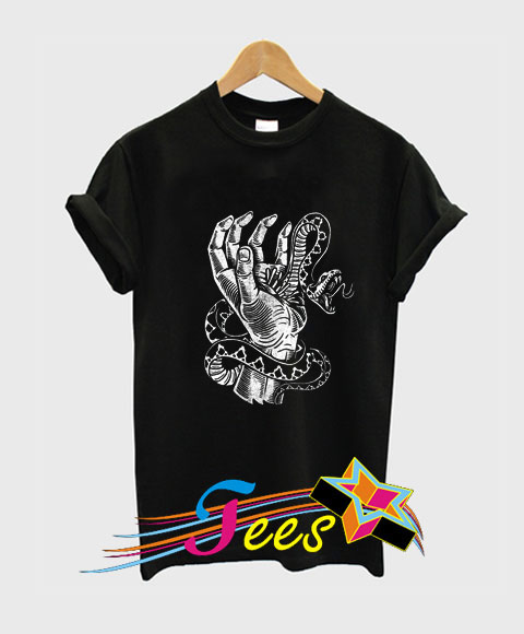 21c8ea89 Cheap Snake Hand Graphic Tees On Sale – Custom Graphic Tee Shirts ...