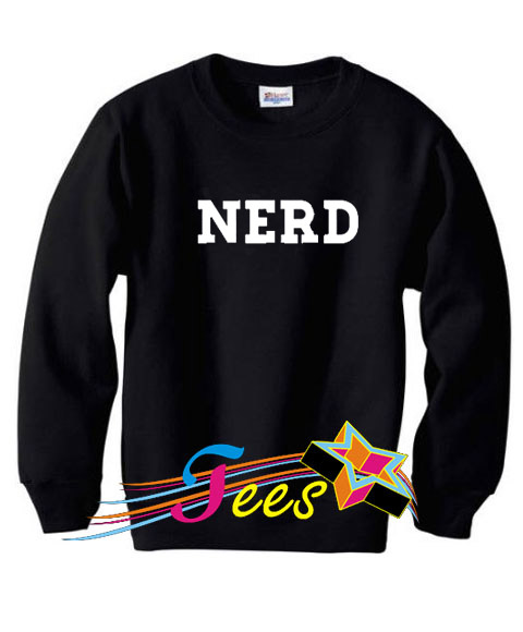 Cheap Graphic Nerd Simple Sweatshirt
