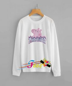 Peppa Pig X Thrasher Parody Sweatshirt