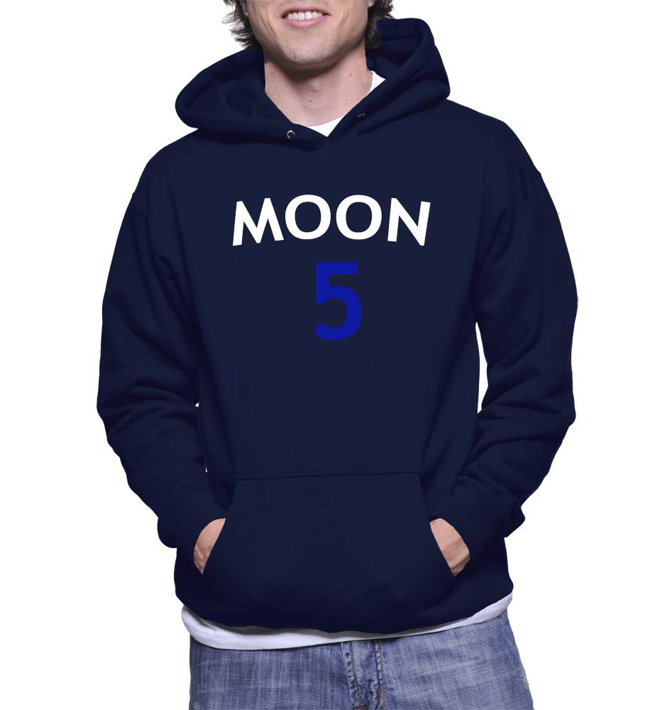 Cheap Graphic Moon Five Pullover Hoodie