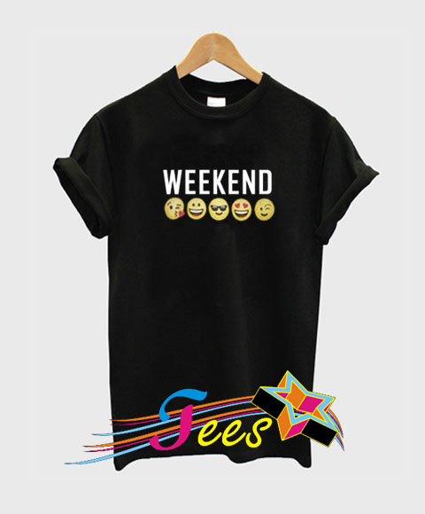 Weekend Emoji T Shirt